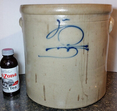 ANTIQUE 19TH C  EARLY RED WING 5 Gal Gallon SALT GLAZED Stoneware Crock