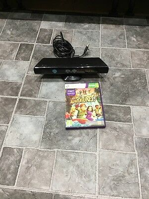 OFFICIAL MICROSOFT XBOX 360 KINECT MOTION SENSOR CONTROLLER + Game