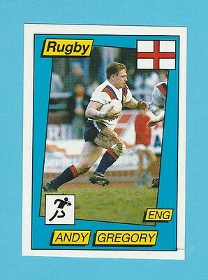 Rugby - Panini - Supersport Rugby Sticker No. 135  -  Andy  Gregory  - 1986