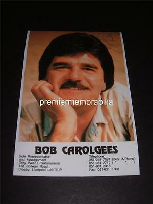 Bob Carolgees Signed (Printed) Comedy Entertainer Tiswas Tv Photograph