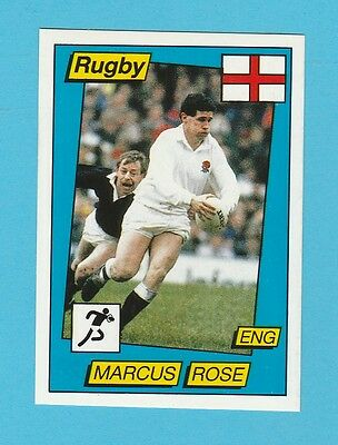 Rugby - Panini - Supersport Rugby Sticker No. 138 -  Marcus  Rose  - 1986