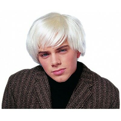 Andy Warhol Wig 60s Halloween Costume for Men Fancy Dress