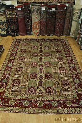 One-of-a-Kind Sage Green Najafabad Isfahan Persian Oriental Area Rug Carpet 9X13