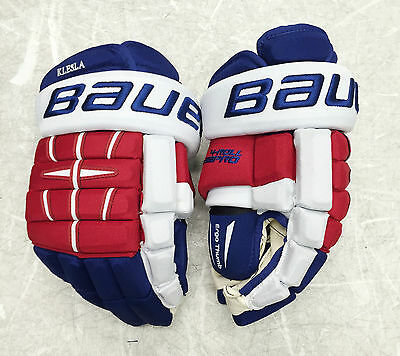 "Pro Stock Bauer 4 ROLL PRO 14"" TEAM CZECH Hockey Gloves NHL FREE SHIPPING"
