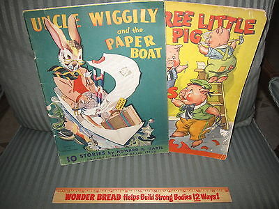 Vintage Uncle Wiggily And Three Little Pigs Books