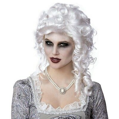 Marie Antoinette Wig 18th Century Colonial Powdered Halloween Fancy Dress