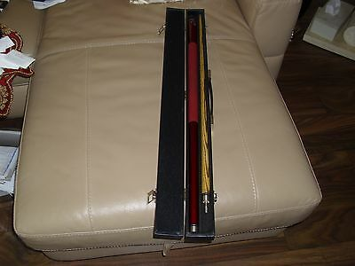 57inch BCE Ronnie O'Sullivan 2 Piece Snooker / Pool CUE + BCE Hard Carrying Case