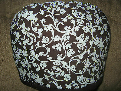 Brown With Turquoise Swirls Small Tea Cozy