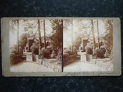 Stereoview Rydal Mount Grasmere Lake District On The Back A Picture Of A Byplane