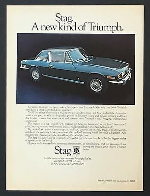 1972 Triumph Stag Advertisement Color Photo Car Vintage AD British Leyland Motor