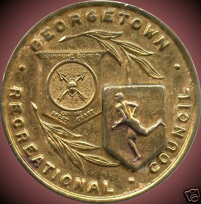 Georgetown Recreation Council Sports Award Medal (18.6 Grams 35mm Diameter)