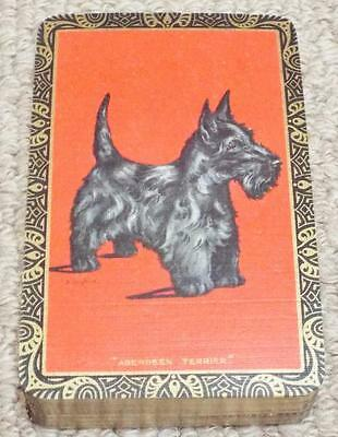 Aberdeen Terrier - Scottie Dog - Vintage 1930's Pack of Goodall Playing Cards