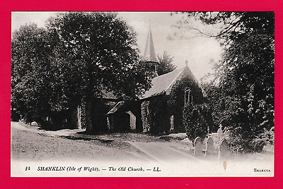 Unposted pre. 1918. postcard, The Old Church, Shanklin, Isle of wight
