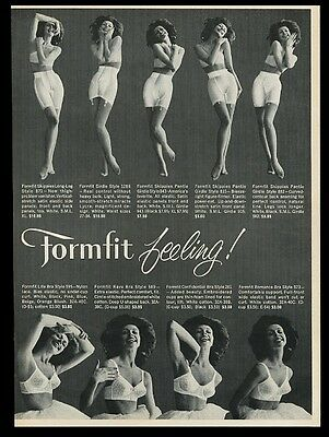 1961 Formfit lingerie bra panty girdle 9 woman photo vintage print ad