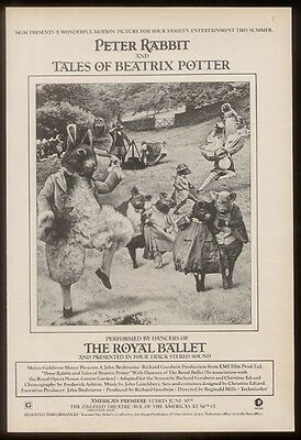 1971 The Royal Ballet cast photo Peter Rabbit movie ad