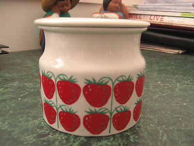 Arabia  Strawberry Conserve Pot With Lid