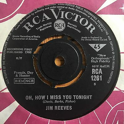 "Jim Reeves - You're The Only Good Thing (That Happened To Me) UK 1960 7"" RCA Vic"