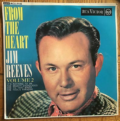 "Jim Reeves - From The Heart Vol. 2 UK 1963 7"" E.P. RCA Victor Recs"