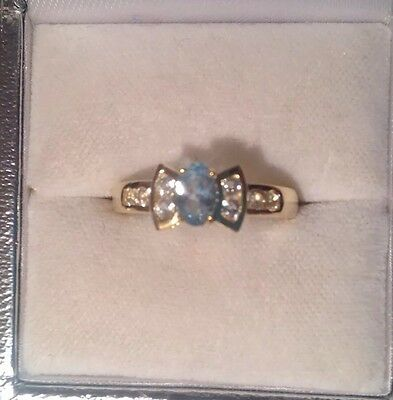 9ct Gold And Blue Topaz Ring