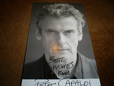 Peter Capaldi Hand Signed. Letter Of Coa. Dr.who. Musketeers. Etc. 6 X 3 Inches