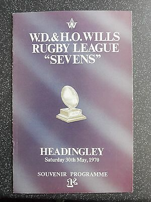 . Wills Embassy Rugby League  Sevens At Headingley 30/5/1970