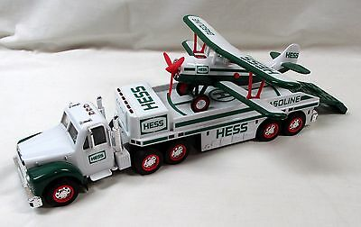 2002 Hess Toy Truck And Airplane + Bag + Miniature Hess Voyager - New