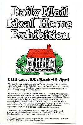 NORTH WALES STATIONS: LEAFLET FOR FARES etc. TO IDEAL HOME EXHIBITION 1981.