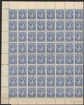 St Lucia 1d & 2 1/2d SG 129a & 132a in MNH complete sheets of 120 cat £84