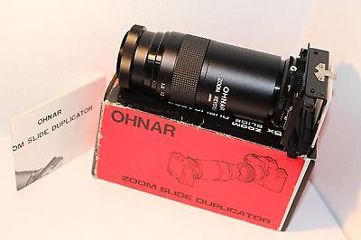 OHNAR ZOOM SLIDE DUPLICATOR , with M42mm SCREW T-2 MOUNT , BOXED