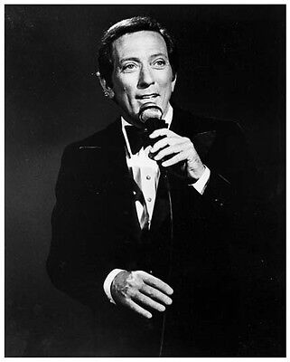 ANDY WILLIAMS great 8x10 still on stage -- (y838)