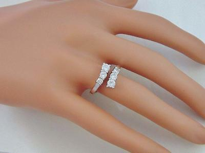 Signed NV by AVON 10K White Gold Plated RING Sz 7 Crystal Stones MINT lot Z234