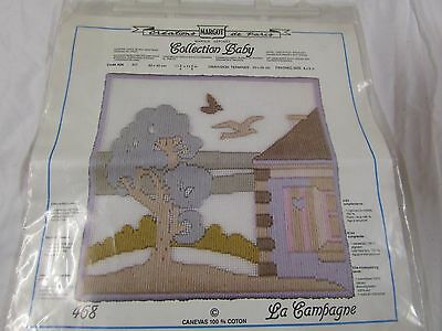 """**LOOK** New & Sealed MARGOT Long Stitch Tapestry Kit """"The Country"""" NEW Complete"""