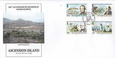 Ascension Island First Day Cover 2009 Stamps 200th Anniversary Charles Darwin