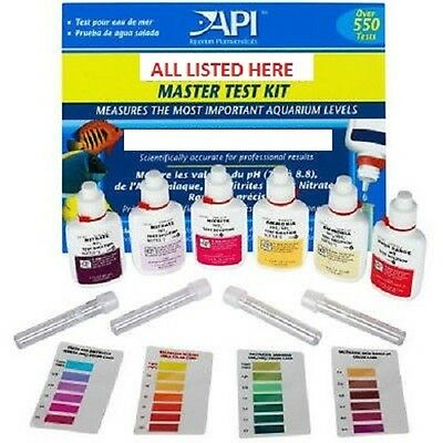 API Master Test Kit Freshwater Saltwater Reef Pond Aquarium Fish Tank Liquid