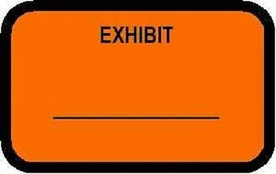 Exhibit Labels Fluorescent Orange 492 Per Pack