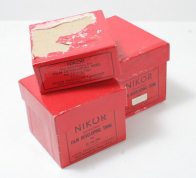 Nikor Three Boxes Only For 120 & 35 Film Developing Tank, 35Mm Reel/153449