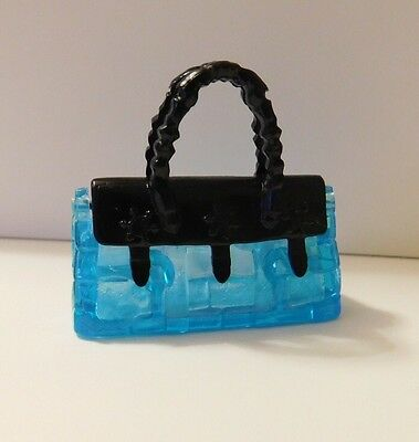 Barbie My Scene Bratz Or Sindy Doll Accessories Clear Blue And Black Handbag