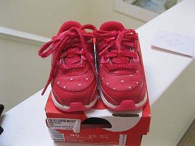 Toddler Girl's Nike Air Max 90 Valentine's Day Shoes-Red/Pink-Size 4C