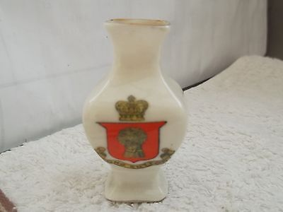 Model Of A Square Vase  Crested Long Sutton By Arcadian  China