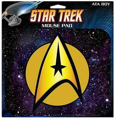 Star Trek licensed  INSIGNIA Mousepad Mouse Pad TOS Sci-fi Spock Kirk Space