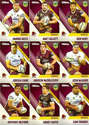 2017 NRL ESP Traders common team set - Brisbane broncos