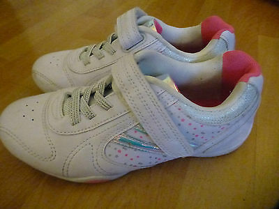 Girls white and pink trainers from George - velcro fastening - size 4