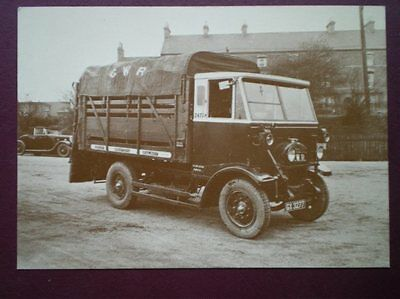 Postcard Gwr Early Freight Lorry Cattle Truck 1932