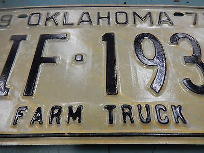vtg HOT ROD Street OUTLAWS FARM TRUCK fAST N LoUD Oklahoma State License PLATE