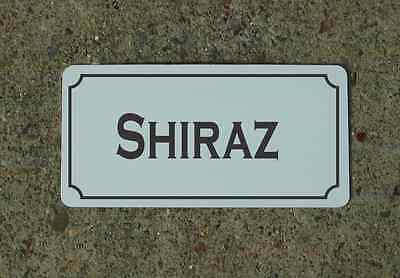 SHIRAZ Metal Sign Vintage Style for Wine Cellar Cave or Collection or Kitchen