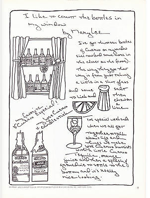 Original Print Ad-1973 I've Got Thirteen Bottles of CUERVO On My Window Sill B&W