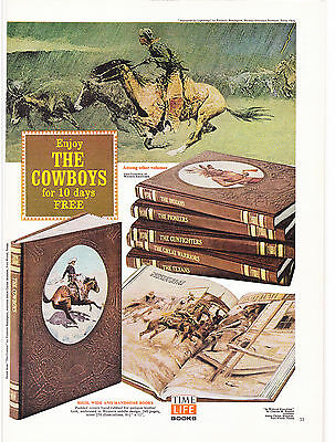 Original Print Ad-1973 Enjoy THE COWBOYS for 10 days-TIME LIFE BOOKS-OLD WEST