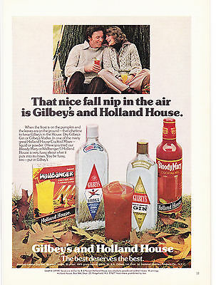 Original Print Ad-1975 That Nice Fall Nip In The Air Is GILBEYS & HOLLAND HOUSE.
