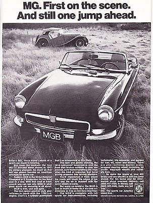 Original Print Ad-1974 MG-First On The Scene. And Still One Jump Ahead. B&W Ad