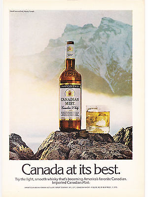 Original Print Ad-1975 CANADIAN MIST WHISKY/Banff National Park, Alberta Canada